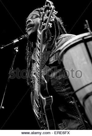 Stephen Marley performing at Carling Academy Bristol 11 July 2008 - Stock Photo