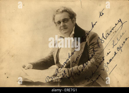 Frederick Blamey as Franz Schubert, impersonation. Postcard. - Stock Photo
