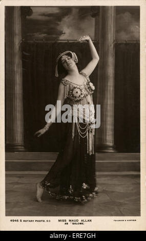Miss Maud Allan as 'Salome'. Sepia postcard, London, 1908. MA: pianist, actress, dancer and choreographer, 27 August - Stock Photo