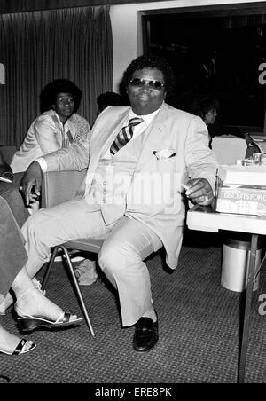 American bluesman B.B. King (b. 1925, real name Riley King) in his dressing room after a concert at the Royal Festival - Stock Photo