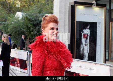 Georgette Mosbacher attends the Metropolitan Opera 'Madama Butterfly' by Anthony Minghella, opening Night Season - Stock Photo