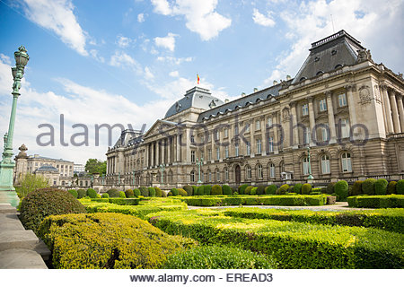 Royal Palace of Brussels, Brussels, Belgium - Stock Photo
