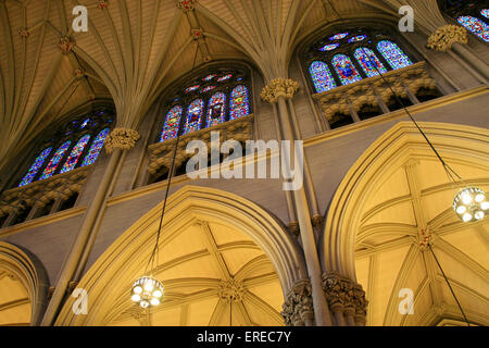 St. Patrick's Cathedral is the largest decorated gothic-style Catholic cathedral in the United States. It is the - Stock Photo
