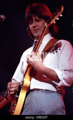 Randy Meisner performing in Los Angeles, USA. American singer, songwriter, guitarist and founding member of the - Stock Photo