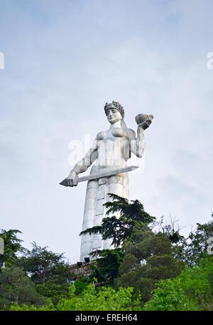 Famous Mother Georgia statue, Tbilisi - Stock Photo