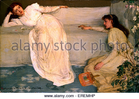 Symphony in White, No. III  by James Abbott McNeill Whistler,1865- 67. American- born British painter, 11 July 1834 - Stock Photo