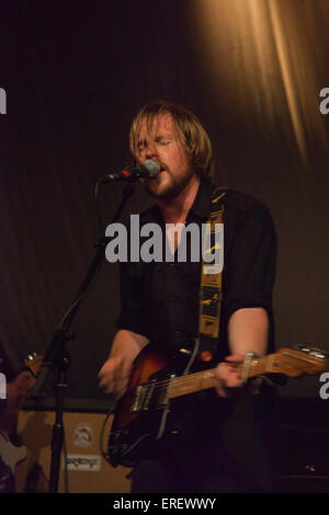 Broken Records, Scottish indie folk band performing at the ABC O2 stage at the 'Stag and Dagger' indie rock festival, - Stock Photo
