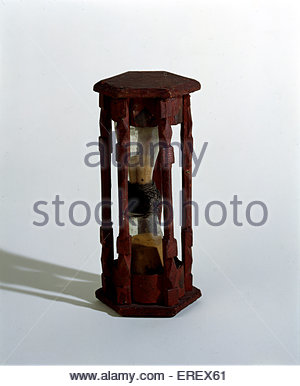Ship 's hour glass - basic timepiece for ships in 15th/16th century - Stock Photo