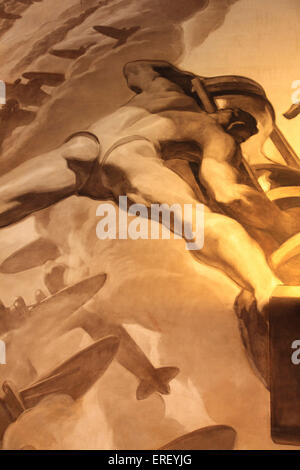 Time the largest mural by Jose Maria Sert (Spanish 1876-1945) oil on canvas located on the ceiling and grand lobby - Stock Photo