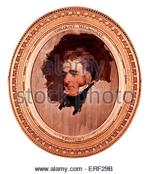 William Lamb, 2nd Viscount Melbourne by Sir Edwin Henry Landseer. WL: British Whig statesman who served as Home - Stock Photo
