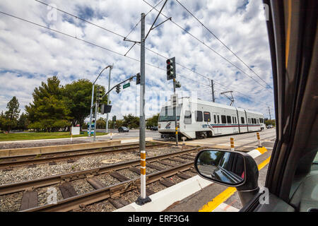 San Jose California Light Rail Run By The VTA (Santa Clara Valley  Transportation Authority)