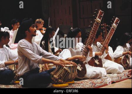 INSTRUMENTS - INDIA Orchestra including SITAR and TABLA ORIGINAL - Stock Photo