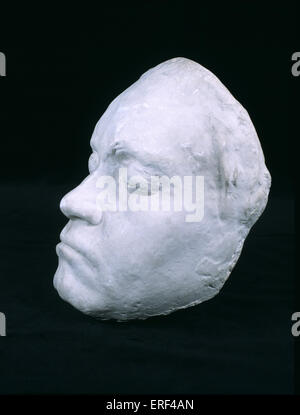 Ludwig van Beethoven 's life mask made in 1812 while Beethoven was working on 7th Symphony.  Mould made by Franz - Stock Photo