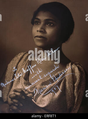 Marian Anderson - portrait, signed and dated 1987.   American contralto, 17 February 1902 - 8 April 1993. - Stock Photo