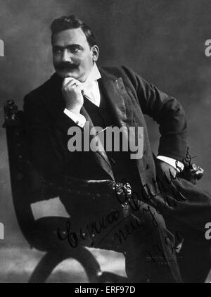 CARUSO, Enrico - New York, 1920 signed photograph Italian Tenor, 1873-1921 - Stock Photo
