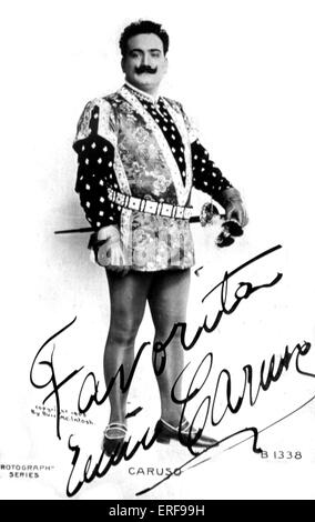 CARUSO, Enrico Signed photograph Italian Tenor, 1873-1921 - Stock Photo