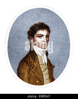 Ludwig van Beethoven (1770-1827) after Stainhauser by Scheffner c.1801. - Stock Photo