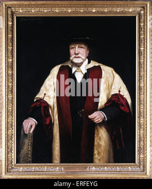 Sir Alexander Campbell MacKenzie by Rene l'Hopital, early 1920s.  British composer and educator, 1847-1935.  Oil - Stock Photo