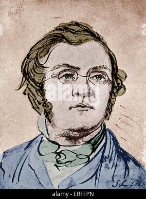 William Makepeace Thackeray - 1811-1863. English novelist. Author of Vanity Fair and other popular novels. (William - Stock Photo