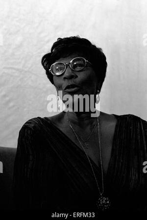 Ella Fitzgerald - portrait of the American jazz singer performing at the 1981 Capital Radio Jazz Festival in Knebworth. - Stock Photo