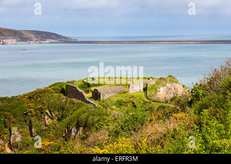 Fishguard Fort Pembrokeshire, south west Wales UK Europe - Stock Photo