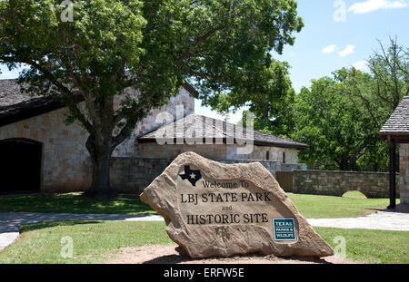 Entrance, LBJ State Park and Historic Site, Stonewall, Texas. - Stock Photo