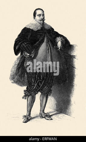 Gustavus Adolphus of Sweden/ King Gustav II Adolf  (1594 – 1632). The king led the Swedish army during the Thirty - Stock Photo
