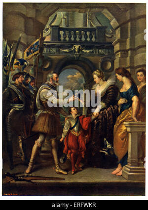 King Henri IV  of France and  wife Marie de' Medici by Rubens. 'The Consignment of the Regency,' part of Marie de'Medici - Stock Photo