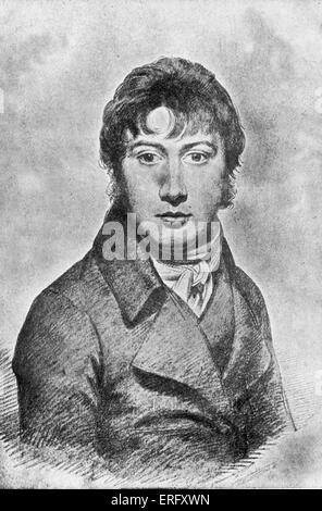 John Constable. Portrait of the  English Romantic painter. 11 June 1776 – 31 March  1837. - Stock Photo