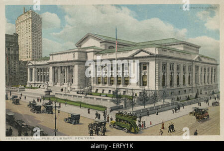 NEW YORK, Public Library, 5th Avenue & 42nd Street - Stock Photo