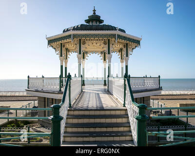 The restored seafront bandstand Brighton - Stock Photo