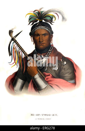 Kiontwogky ('Cornplanter'), a Seneca chief, c. 1750 – 18 February 1836. Native American chief of the Seneca tribe - Stock Photo