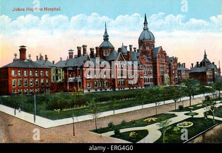 Baltimore: Johns Hopkins Hospital - Stock Photo
