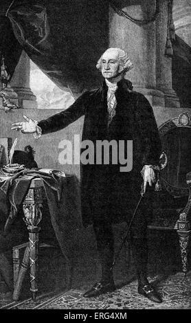 George Washington, 22 February 1732 (11 February 1731) – 14 December 1799. First President of the United States - Stock Photo