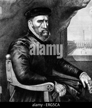 Sir Thomas Gresham (1519 – 21 November 1579), English merchant and financier who worked for King Edward VI of England - Stock Photo