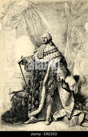 LOUIS XVI King of France, 1754-1793. His execution in 1793 marks the end of the Ancien Régime, after the 1789 Revolution. - Stock Photo