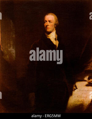 William Pitt the Younger, British politician, youngest Prime Minister in 1783 at the age of 24 (although at this - Stock Photo