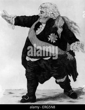 Stephen Kemble as Shakespeare 's Hamlet. Caption reads ' (weight eighteen stone) Manager at the Theatre Royal, Edinburgh - Stock Photo