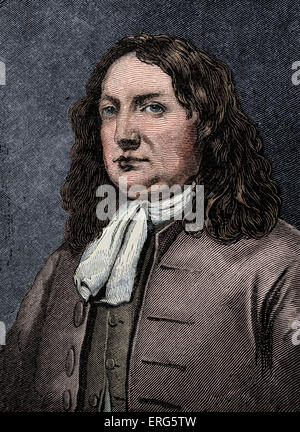 William Penn.English religious reformer and columnist, founder of the US state of Pennsylvania: 14 October 1644 - Stock Photo