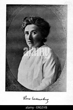 Rosa Luxemburg - portrait of the German political theorist 5 March 1870 or 1871- 15 January 1919. - Stock Photo