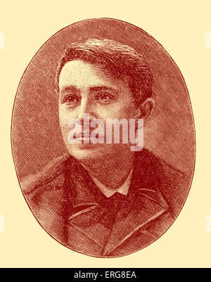 Thomas Edison - portrait. Prolific American inventor, scientist and businessman, 11 February 1847 – 18 October 1931. - Stock Photo