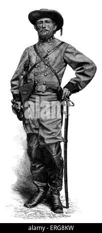 John Singleton Mosby - American Civil War. Confederate cavalry battalion commander. Commanded 43rd Battalion, 1st - Stock Photo