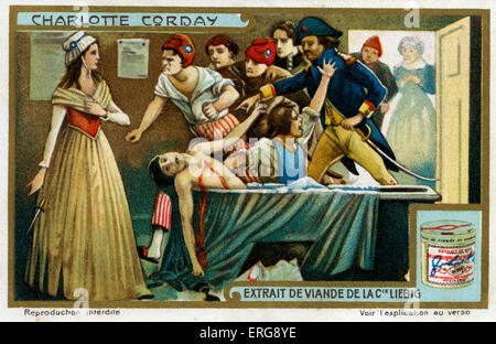Marie-Anne Charlotte de Corday d'Armont (27 Jul 1768 – 17 Jul 1793): a heroine of the French Revolution, executed - Stock Photo