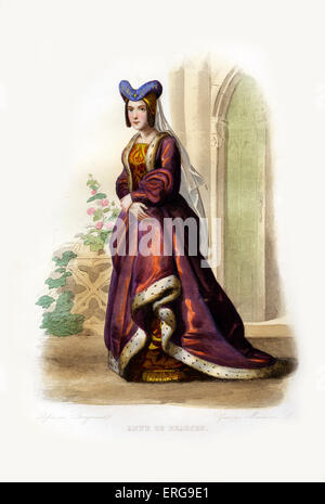 Anne of France or Anne de Beaujeu. Sister of King Charles VIII of France, for whom she acted as regent during his - Stock Photo
