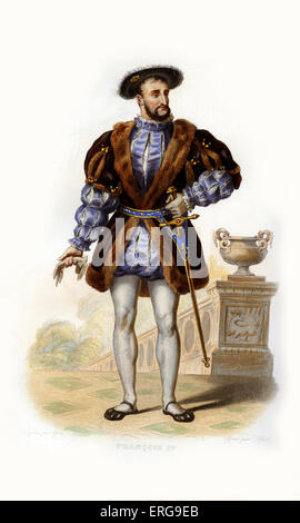 Francis I (French: François Ier). King of France(1515-1547), sometimes considered France's first renaissance monarch. - Stock Photo
