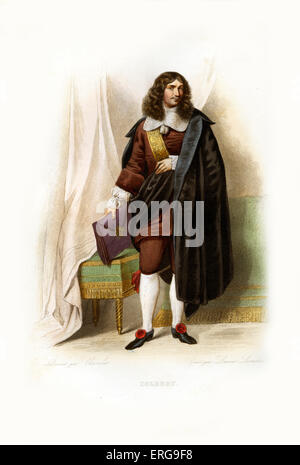 Jean-Baptiste Colbert. French politician and the Controller-General of Finances of France (1665-1683). 1619-1683. - Stock Photo