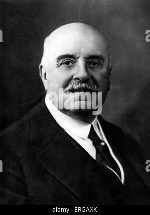Marquis Jules-Albert de Dion - French nobleman who, together with Georges Bouton and Charles Trépardoux, founded - Stock Photo