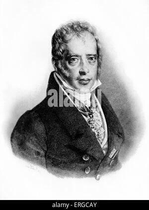 Solomon Meyer Rothschild (or Salomon Mayer von Rothschild, 1774 - 1855), from a painting by I. Lieder. - Stock Photo