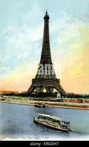 Eiffel Tower, Paris. Early 20th century. - Stock Photo