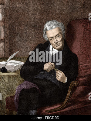 William Wilberforce - portrait after George Richmond. British politician, philanthropist and a leader of the movement - Stock Photo